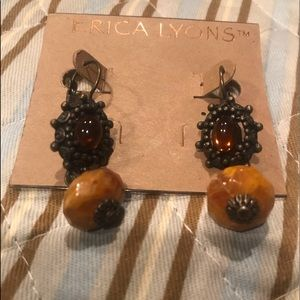 Erica Lyons Brand New Earrings Wire Clasp Back